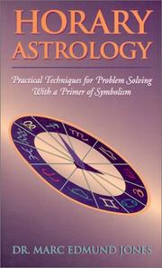 Cover of: Horary Astrology by Marc Edmund Jones