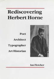 Cover of: Rediscovering Herbert Horne by Fletcher, Ian