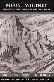 Cover of: Mount Whitney by Thompson, Doug.