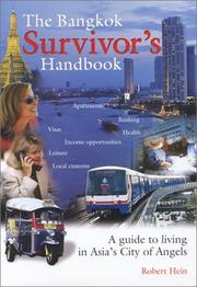 Cover of: The Bangkok survivor's handbook by Robert Hein
