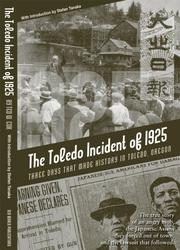 Cover of: The Toledo incident of 1925 by Ted W. Cox