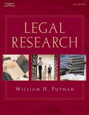Cover of: Legal Research (West Legal Studies) by William H. Putman