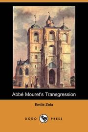 Cover of: Abbe Mouret's Transgression by Émile Zola
