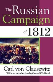 Cover of: The Russian Campaign of 1812 by Carl von Clausewitz