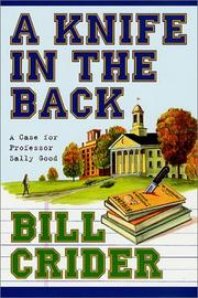 Cover of: A knife in the back by Bill Crider