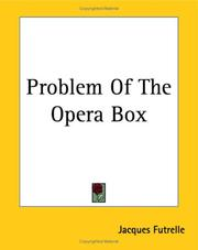 Cover of: Problem Of The Opera Box by Jacques Futrelle