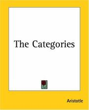 Cover of: Categoriae by Aristotle