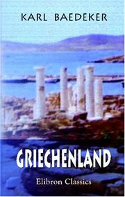 Cover of: Griechenland by Karl Baedeker (Firm)