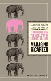 Cover of: Managing Your Career (Lessons Learned) (Lessons Learned) by Fifty Lessons