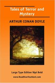 Cover of: Tales of Terror and Mystery by Sir Arthur Conan Doyle
