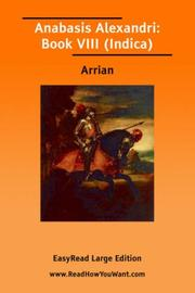 Cover of: Anabasis by Arrian