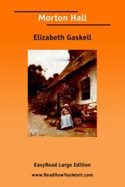 Cover of: Morton Hall by Elizabeth Cleghorn Gaskell
