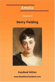 Cover of: Amelia Volume II by Henry Fielding