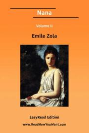 Cover of: Nana Volume II by Émile Zola