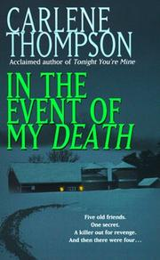Cover of: In the Event of my Death by Carlene Thompson