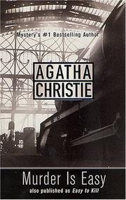 Cover of: Murder is easy by Agatha Christie