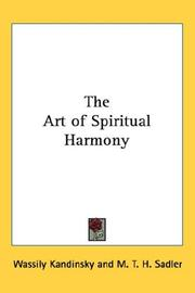 Cover of: The art of spiritual harmony by Wassily Kandinsky