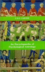 Cover of: An Encyclopaedia of Psychological Astrology by Charles E. O. Carter
