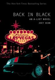 Cover of: Back in black by Zoey Dean