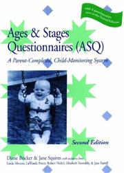 Cover of: The Ages & Stages Questionnaires (Asq) - a Parent-completed, Child-monitoring System (English Version - Complete Asq System) by Jane Squires