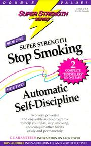 Cover of: Super Strength Stop Smoking/Automatic Self-Discipline by Bob Griswold