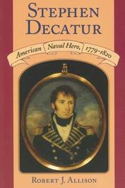 Cover of: Stephen Decatur by Robert J. Allison