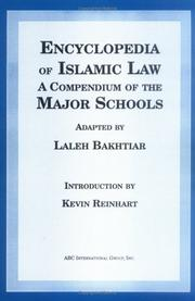Cover of: Encyclopedia of Islamic law by Laleh Bakhtiar