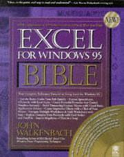 Cover of: Excel for Windows 95 bible by John Walkenbach