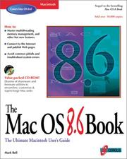 Cover of: The Mac OS 8.6 book by Mark R. Bell