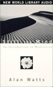 Cover of: Still the Mind by Alan Watts