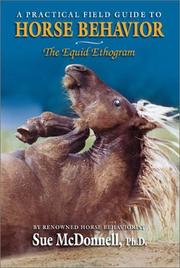 Cover of: The equid ethogram by Sue M. McDonnell