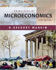 Cover of: Principles of Microeconomics (with Xtra!) by N. Gregory Mankiw