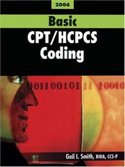 Cover of: Basic CPT / HCPCS Coding by Gail I. Smith
