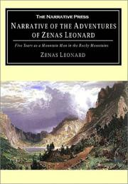 Cover of: Narrative of the adventures of Zenas Leonard by Zenas Leonard