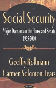 Cover of: Social security by Geoffrey Kollmann
