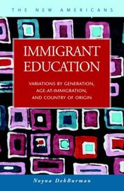 Cover of: Immigrant education by Noyna DebBurman