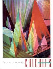 Cover of: Calculus by Stanley I. Grossman