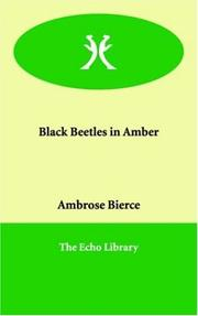 Cover of: Black Beetles in Amber by Ambrose Bierce