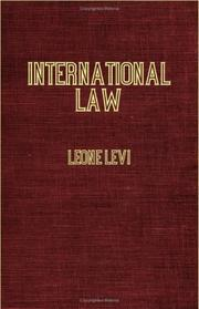 Cover of: International Law With Materials for Code of International Law by Leone Levi