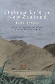 Cover of: Station life in New Zealand by Barker Lady