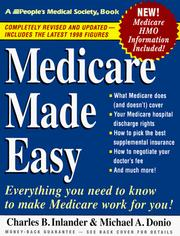 Cover of: Medicare made easy by Charles B. Inlander