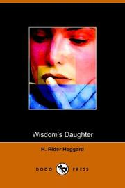 Cover of: Wisdom&#39;s daughter by H. Rider Haggard
