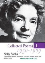 Cover of: Collected Poems II, 1950-1969 by Nelly Sachs