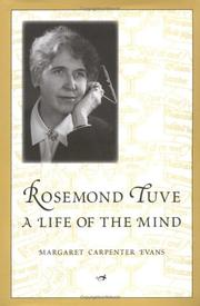 Cover of: Rosemond Tuve by Margaret Evans