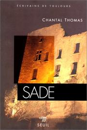 Cover of: Sade by Thomas, Chantal.