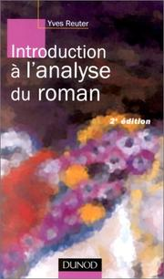 Cover of: Introduction à l'analyse du roman by Yves Reuter