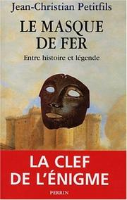 Cover of: L'Homme au masque de fer by Jean-Christian Petitfils
