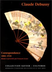 Cover of: Correspondence by Claude Debussy