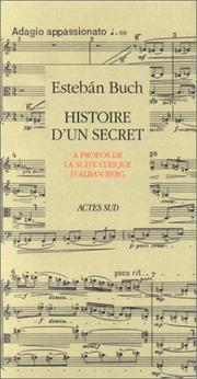 Cover of: Histoire d'un secret by Esteban Buch