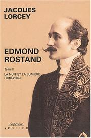 Cover of: Edmond Rostand by Jacques Lorcey